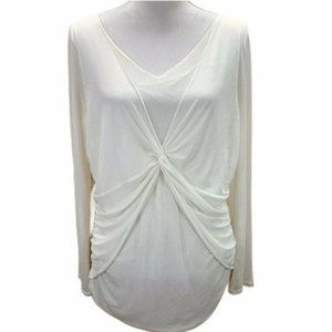 Kenneth Cole Layered Mesh Draped Stretch Top ®